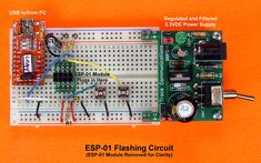 How to Flash ESP-01 Firmware to the Improved SDK v2.0.0 - Projects Esp8266 Projects, Hobby Electronics, Usb, High Tech Gadgets, Electrical Engineering, Coding, Technology, Learning, Programming