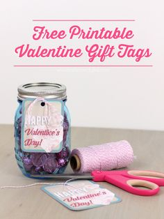 Free Printable Valentine Gift Tags from Pitter and Glink