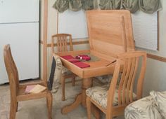 Discover ideas about Storage Chair & Free-standing Dinette Table and Four Storage Chairs | Love Old ...