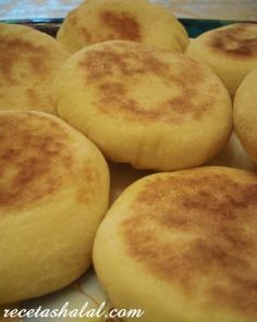 pan-batbout PAN BATBOUT/ receta arabe http://www.recetashalal.com/pan-marroqui-batbut/