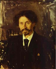 Portrait of the Artist Ilya Repin, 1892 by Valentin Serov
