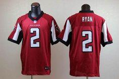 Nike Atlanta Falcons #2 Matt Ryan Red Team Color Men's Stitched NFL Elite Jersey