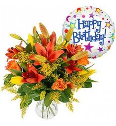 Solidago And Deep Orange Asiatic Lilies A Perfect Flower Arrangement For Warming The Heart Of Any Recipient Gift Someones Birthday