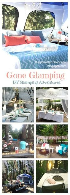 Anyone Can Decorate: Gone Glamping - A DIY Glamorous Camping Trip
