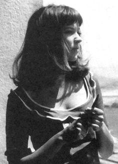 Anna Karina looking beautiful as always.