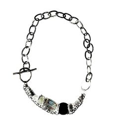 Necklace Silver and Black by JustineBrooks on Etsy, $85.00