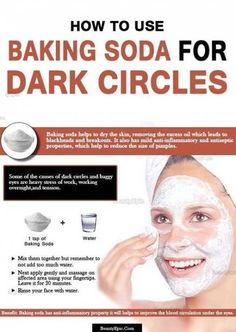 How to Remove Dark Circles With Baking Soda? Baking Soda for Dark Circles :Baking soda is one of the most admired effective and natural treatments that remove dark circles as well as baggy eyes Deep Cleaning Tips, Cleaning Hacks, Diy Hacks, Natural Hair Mask, Natural Hair Styles, Natural Beauty, All You Need Is, Baking Soda Uses, Skin Tag