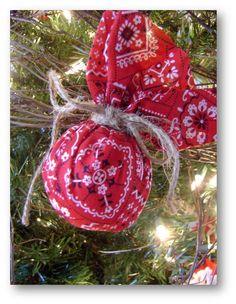 Western christmas ornament - use green bandanas for 4-H tree