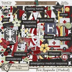First Responder Medical is part of First Responder series by Karen Diamond Designs. Perfect for scrapping pnotos of those medical emergencies that sometimes happen in our lives. Available here: Kit: First Responder Medical by Karen Diamond Designs: http://www.scraps-n-pieces.com/store/index.php?main_page=product_info&cPath=66_104&products_id=3472#.Un_3-Ennb3g