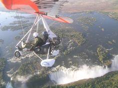 Microlight flight over #VictoriaFalls #Livingstone #Zambia