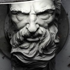 Fantastic Totally Free Sculpture Clay geometric Suggestions There are plenty of kinds of clay-based used for statue, many varying in terms of dealing with as well as fin Sculpture Art, Sculptor, Statue Tattoo, Poseidon Tattoo, Gargoyle Tattoo, Greek Sculpture, Poseidon, Portrait, Sculpting