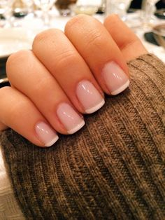 Classic White Tipped French Manicure