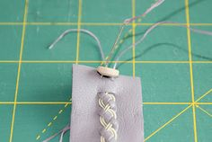 Here comes the long promised complete tutorial on how to make your own Sami Bracelet. In the example I'm making a four strand braid with two. Sami Bracelet Tutorial, Swedish Vikings, Four Strand Braids, Leather Cuffs, Leather Working, Weaving, Jewelry Making, Jewels, Quilts