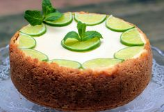CAMELIE: Cheesecake au citron vert et à la menthe
