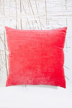 A.U Maison Large Velvet Cushion in Pink at Urban Outfitters