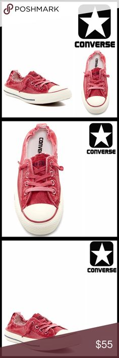 CONVERSE SNEAKERS Stylish Washed Sneakers CONVERSE SNEAKERS Stylish Sneakers  SIZING- Unisex, Women's sizes are shown, Women's 7.5  COLOR- Berry  ABOUT THIS ITEM * Rubber cap toe; Distressed washed out fabric * Lace-up vamp detail & slip-on style * Logo & interior side goring detail * Navy stripe outsole accent * Back pull tab  MATERIAL Fabric upper, rubber sole  ❌NO TRADES❌ ✅BUNDLE DISCOUNTS✅ OFFERS CONSIDERED (Via the offer button only) ITEM#   SEARCH WORDS #  all star Chuck Taylor…