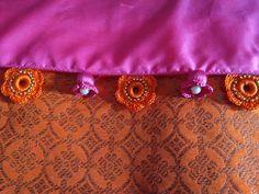 Saree Tassels Designs, Saree Kuchu Designs, New Blouse Designs, Crochet Flower Tutorial, Crochet Flowers, Crochet Designs, Embroidery Stitches, Bangles, Bracelets