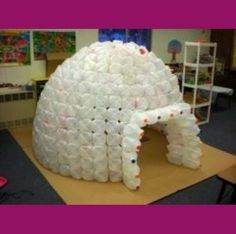 amaze Igloos are cool. You can easily build an milk jug igloo in your classroom with some planning, lots of milk jugs and hot glue. For example, the...