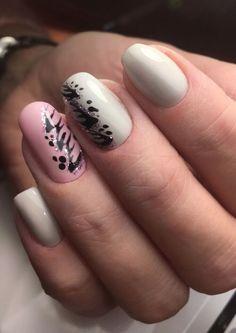 Beautiful nails, Delicate nails, Drawings on nails, Extraordinary nails, Gentle . Nail Art Design Gallery, Best Nail Art Designs, Two Color Nails, Nail Colors, Long Square Nails, Nail Drawing, Floral Nail Art, Spring Nail Art, Metallic Nails