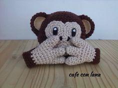 Amigurumi Monkey Emoticon Whatsapp - Tutorial ❥ 4U // http://www.pinterest.com/hilariafina/