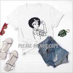 Strong African American Woman - Strong Woman Collection - 2XL / 1. WHITE