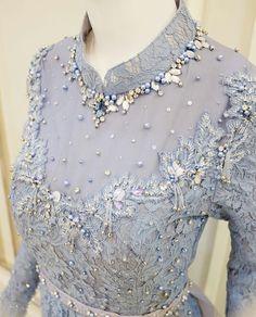 Dress brokat muslimah hijab fashion 22 trendy Ideas Source by andutza dress hijab Embroidery Hoop Crafts, Embroidery On Clothes, Bead Embroidery Jewelry, Embroidery Fashion, Embroidery Dress, Beaded Embroidery, Embroidery Designs, Kebaya Lace, Kebaya Hijab