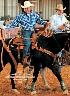 George Strait, real cowboy
