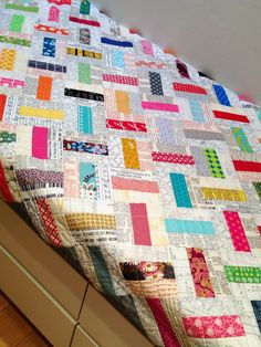Possibly my favourite quilt! Domino quilt - there is a Flickr group with a free pattern for this awesome quilt