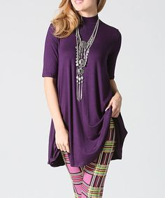 Eggplant Mock Neck Tunic