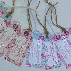 10 x VINTAGE PERSONALISED WEDDING FAVOUR TAGS Vintage Rose Bloom Shabby Chic in Cards & Invitations | eBay