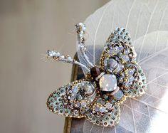 Brodé à la main de broche papillon créatrice de bijoux idée cadeau pour femme cadeaux papillon bijoux Noël cadeau Unique pour les cadeaux de bijoux femmes
