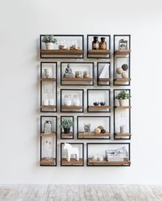 30 Cool Wall Decoration Ideas for living room 4 Wood Wall Shelf, Wood Shelves, Shelving Units, Iron Storage, Storage Rack, Painted Front Doors, Wall Boxes, Iron Wall, Cool Walls