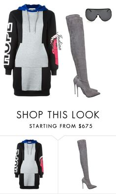 """""""Untitled #3715"""" by teastylef ❤ liked on Polyvore featuring Moschino, Le Silla and Rick Owens"""