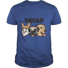 I Love  kid s dog squad shirt  T-Shirts