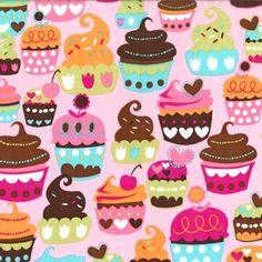 Michael Miller Fabric, Pink Sweet Treats, 1 yard