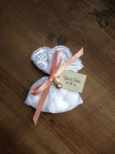 Baptism Favor Bags Lace With Organza Circles Wedding Birds Etsy Pinterest Favors And