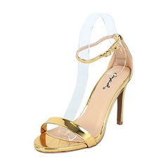 Qupid Women's Grammy-01 Dress Sandal Gold Shiny**- 9 B(M) US... Simple low heeled dress sandalA TIMELESS DESIGN: Classic design that is sure to compliment every modern woman?s wardrobe. This stunning pair of heels is ideal for weddings, parties and every other special occasion that calls for dressy, upscale shoes!THE PERFECT SHOE: These Ankle Strap High......http://bit.ly/2rj7vV8