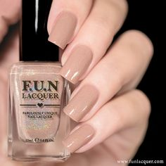 Happiness is a beige/nude holographic polish. This polish can be worn alone in 2-3 coats! *Photos shown here are 2 coats with 1 coat of glossy top ...
