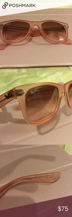 Ray-Ban Wayfarer Sunglasses Never worn; Color: Icy Pop Watermelon; lost original case Ray-Ban Accessories Sunglasses