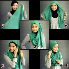 How to wear hijab. Hijab styles for round faces. Hijab styles for your face.Different and latest hijab styles according to your face shape. Hijab Chic, Hijab Musulman, Beau Hijab, Stylish Hijab, Muslim Hijab, Mode Hijab, Hijab Outfit, Simple Hijab Tutorial, Hijab Style Tutorial
