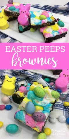 Easter basket ideas for college students easter baskets easter peep brownies recipe a fun easter dessert with peeps easter dessert negle Images