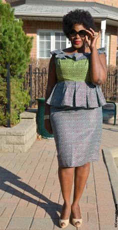 There are top 5 skirts that apple shaped women should avoid. These skirts will make an apple look even bigger and hide her curves at the same time: African Print Clothing, African Print Dresses, African Dress, African Prints, African Inspired Fashion, African Print Fashion, Fashion Prints, African Attire, African Wear