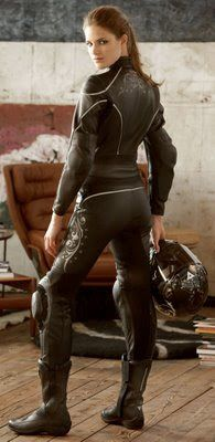Sexy Black Leather Motorcycle Gear For Women 101