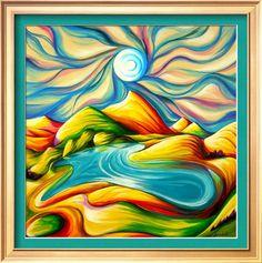 Near Emerald Lake Lodge, Timothy Sorsdahl, Art.com  Gotta love those blues and gold!