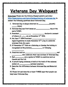 a quick and easy veterans day webquest utilize the history channels video and description of - Halloween Web Quest