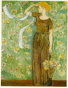⊰ Posing with Posies ⊱ paintings of women and flowers - Vanessa Bell