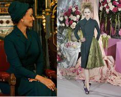H.R.H. Princess Mozah of Qatar  wearing Christian Dior Spring 2010 Couture