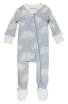 Burt's Bees Baby Print Organic Cotton Fitted One-Piece Pajamas (Baby Boys) available at #Nordstrom