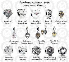 bd44d0878 row of hearts and loving sentiments>>Pandora - Autumn 2016 Pandora  Bracelet Charms