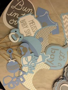 Baby shower photo booth props for an elephant theme baby shower. Made with the cricut explore